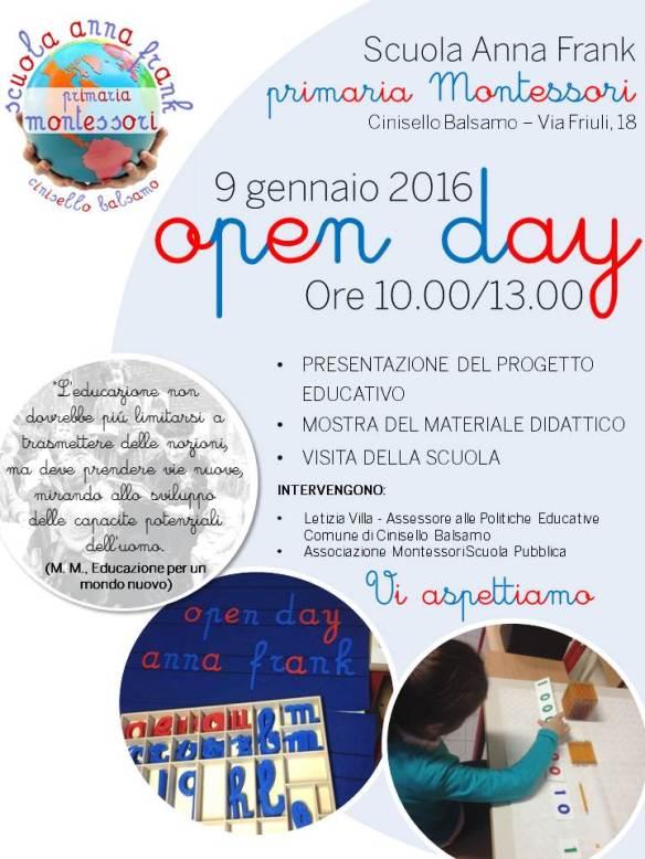 9-1-2016 Open Day Scuola Anna Frank Primaria Montessori OK