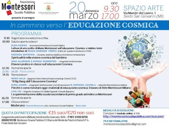 Associazione Montessori Scuola Pubblica_20 marzo 2016_educazione cosmica